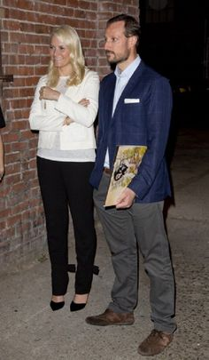 Crown Prince Haakon and Crown Princess Mette-Marit of Norway attend a concert given by the band ' Kvelertak ' at Slim's Music Club,  in San Francisco, United States