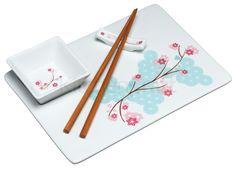 zestaw do potraw orientalnych,  np do sushi;) Idealny na romantyczną kolacje z ukochaną/ukochanym
