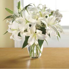Fresh-cut Stargazer White Lily from The Swiss Colony® www.swisscolony.com