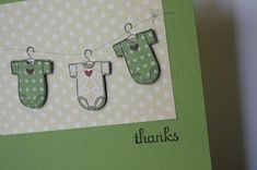 The Pursuit of Stampin'ess: Baby Bundle thank you cards by Stampin Up and me