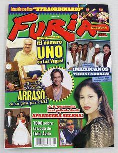 Furia Musical Magazine Selena Quintanilla July 2004 Le Tigres Spanish OOP Rare Las Vegas, Vicente Fernandez, Furano, Music Magazines, Selena Quintanilla, Musicals, Spanish, Usa, Last Vegas