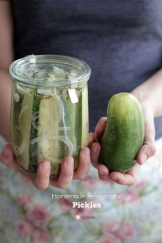 The EASIEST and BEST Homemade Refrigerator Pickles | Live Simply