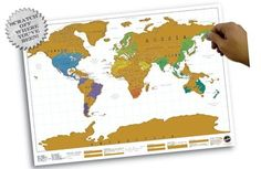 Scratch Map - Kraskaart: je persoonlijke wereldkaart!| NU € 17,95 | Luckies | 5060146590310 | Reisboekwinkel De Zwerver