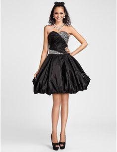 Ball Gown Sweetheart Knee-length Taffeta Cocktail Dress