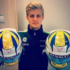 Marcus Ericsson supporting Jules Bianchi at the 2014 Russian GP