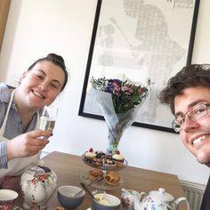 Ailis and Aaron were supposed to be getting married last week 👰  While the ceremony couldn't go ahead for obvious reasons, they decided to make the most of the gorgeous sunshine, get busy in the kitchen and enjoy a romantic afternoon tea for two at home!  If you'd like us to share the recipes, drop us a message! We'd be more than happy to share.  #afternoontea #cancelledplans #weddingplans #kitchenproject #luxurykitchens #kitchendesigns #interior_and_home #kitchendecoration…