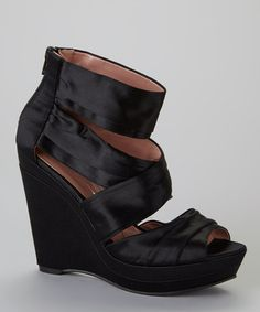 Take a look at this Black Jelena Wedge by Gwyneth Shoes on #zulily today!