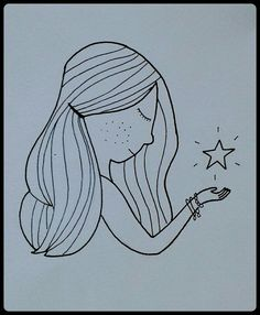 Belive in yourself and everything will be just fine★ Star Hair, Seas, Inktober, Illustrations, Cute, Kawaii, Illustration, Illustrators, Character Illustration