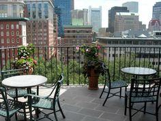 Boston Athenaeum's fifth floor terrace | Red Brick Real Estate, @redbrick_re