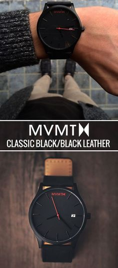 It's time to elevate your wrist game. The MVMT Black/Black Leather features a minimalistic design you can rock whether you're dressing it up or keeping things casual. Click the buy button to get it now!