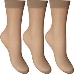 From 1.95 Ladies Silky Soft Sheer & Durable Smooth Knit Everyday Anklets (3 Pairs Multi Pack)