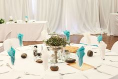 """Some gorgeous pics of Michelle & Alan's """"Beach & Berg"""" . Tall Glass Vases, Floating Flowers, Message In A Bottle, Rose Bowl, Round Mirrors, Silver Roses, Decorative Items, Table Settings, Table Decorations"""