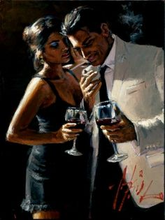 Fabian Perez The Proposal iv oil painting for sale; Select your favorite Fabian Perez The Proposal iv painting on canvas or frame at discount price. Caricatures, Tango, Fabian Perez, 2012 Summer Olympics, Wine Art, Charles Bukowski, Couple Art, Illustrations, Painting Inspiration