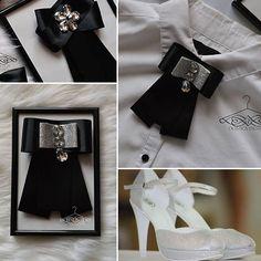 handmade brooch by domka design black vs. silver  high heel - dokonale topánky podľa teba WITT
