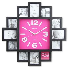 Wall Clock with Fashion Picture Frame Function Design ($42) ❤ liked on Polyvore featuring home, home decor, clocks, array0x149b15f8, wall home decor, wall clock and wall-clock