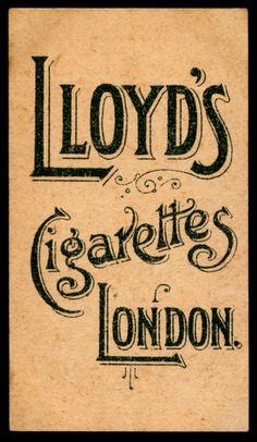 Cigarette Card Back - Lloyd's