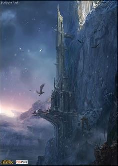 def looks like something from game of thrones .... the eyrie perhaps or maybe along the wall