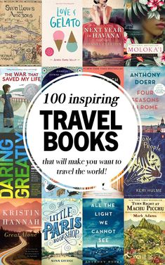 These 100 inspiring travel books will take you to another time and place fuel your wanderlust and make you want to travel the world! Read around the world with this incredible list that spans Africa Asia Europe North and South America Oceania and A Travel Best Travel Books, Best Places To Travel, Literary Travel, 100 Best Books, Travel Literature, Reading Lists, Book Lists, Reading Books, Best Inspirational Books