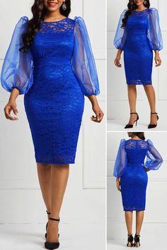 Bodycon Long Sleeve Lace Ladylike Pencil Dresses fashion from Diyanu Best African Dresses, African Fashion Designers, Latest African Fashion Dresses, African Attire, African Fashion Traditional, Lace Dress Styles, Look Fashion, Womens Fashion, Ideias Fashion