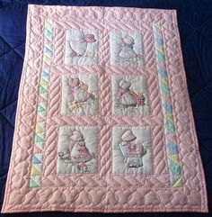 Amish Baby Quilts | Amish Baby or Infant Quilt - Hand quilted and embroidered