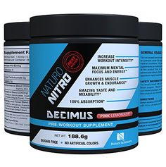 Naturo Nitro Pre Workout Decimus Best Fat Burner Preworkout Creatine Energy Drink with Nitrous Oxide Boosters and Amino Acids PreWorkout for Men and Women 28 Servings Pink Lemonade *** Check this awesome image @