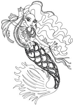 Free Printable Monster High Coloring Page For Sirena Von Boo