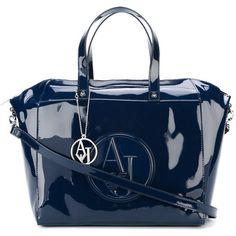 Designer Clothes, Shoes & Bags for Women Armani Jeans Handbags, Blue Handbags, Blue Purse, Embossed Logo, Giorgio Armani, Tote Bags, Gym Bag, Handle, Purses