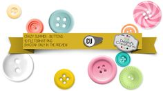 Crazy Summer Buttons by Debora's Creations (CU)