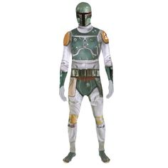 Star Wars Boba Fett Adult Unisex Zapper Cosplay Boba Fetts aura of danger and mystery has turned him into a cult character of the Star Wars saga. Now you can transform yourself into this lawless bounty hunter with the Boba Fett Morphsuit fancy dres http://www.MightGet.com/january-2017-12/star-wars-boba-fett-adult-unisex-zapper-cosplay.asp