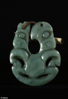 size: Photographic Print: Maori Hei matau (fish hook) pendant made of jade, New Zealand, century by Werner Forman : Maori Tribe, Polynesian Art, Maori Designs, Surfer Girl Style, Maori Art, Carving Designs, Bone Carving, Skateboard Art, Ocean Art