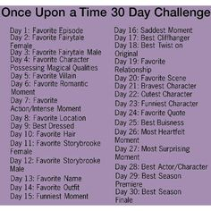 Once Upon a Time 30 Day challenge featuring polyvore, challenges, quotes, words, once upon a time and pictures