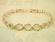 Keepsake Sterling Silver and 14kt Gold Filled Bracelet Kit. $60.00, via Etsy.