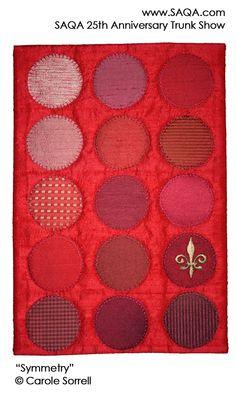Art quilt by Carole Sorrell #artquilts #SAQA #GoRedForWomen