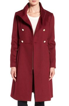 Eliza J Wool Blend Long Military Coat (Regular & Petite) available at #Nordstrom