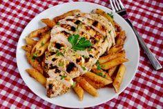 Skinny Creamy Italian Chicken Skillet by Iowa Girl Eats