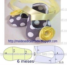 Moldes de Sapatinhos de Bebê para Você Fazer em Casa