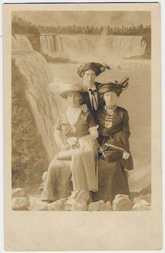 Three Ladies at Niagara - Studio Shot, around 1900