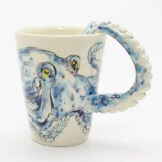 Amazing octopus mug...I need this. Yes...need!