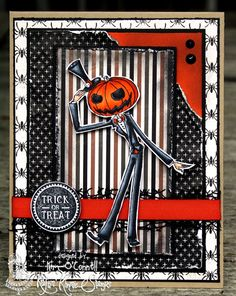 "Paper Perfect Designs by KimO'Connell: Kraftin' Kimmie Stamps ""Mr. Punkinhead"" and ""Halloween Trinkets"""