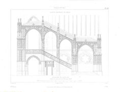 Sainte Chapelle Restoration Stairs Antique Engraving by carambas, $22.00