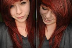Red hair. I want this hole hair style and color. I'm trying to get my natural red color back.