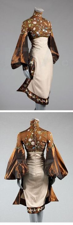 Vintage Fashion: Alexander McQueen for Givenchy couture (wildflower embroidered gown) circa 1999 Moda Fashion, High Fashion, Womens Fashion, Asian Fashion, Chinese Fashion, Look Retro, Glamour, Mode Vintage, Looks Style