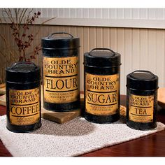 Olde Country Kitchen Canisters Set