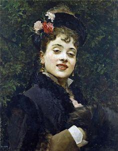 Aline Masson, the Artist's Wife  Raimundo de Madrazo y Garreta