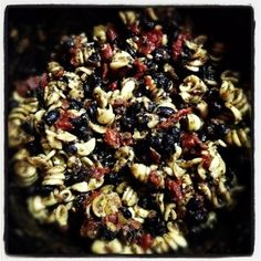 Black Bean Pasta - A hearty, vegetarian pasta dish easily made in the Crockpot