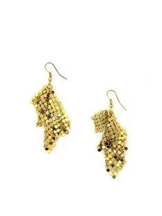 Boucles d'oreilles à facettes dorées Doré Asmara chic