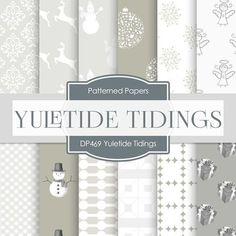 Yuletide Tidings Digital Paper DP469 - Digital Paper Shop - 1