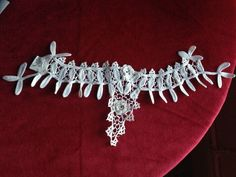 lace collar antique crochet emboroidery found in Ireland