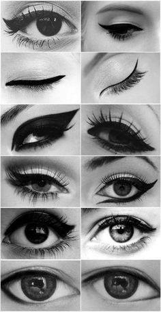 Diferentes tipos de eye liner!