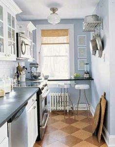 Comment amenager une petite cuisine ? - amenagement-petite-cuisine-simple-et-caire-ikea-style-